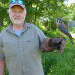 Raptor Volunteer Larry Baldus with Aldo