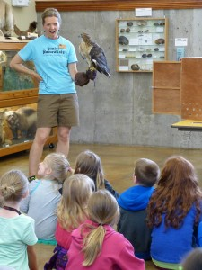 Junior Naturalist raptor program with Carson and Elsa