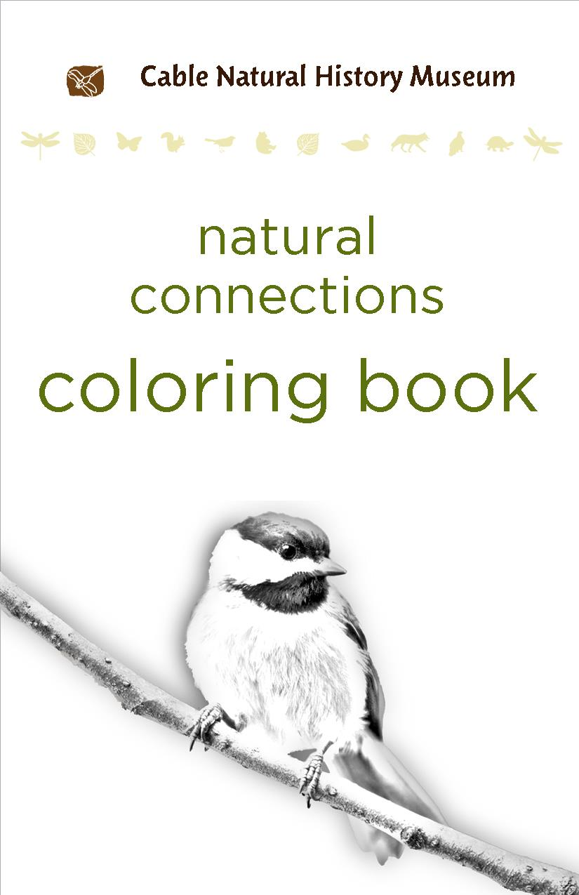 natural connections coloring book cover black and white