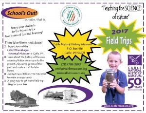 Outside Spring Field Trip Brochure 2017